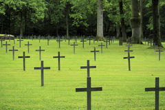 German black cross first world war cemetery. German cemetery located in France Stock Photos