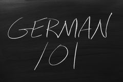 German 101 On A Blackboard Stock Photos