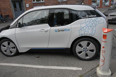 GERMAN BMW ELECTRIC CAR OWN BY ARRIVA Royalty Free Stock Photo