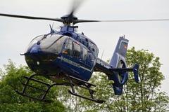 German Border patrol helicopter Stock Photo