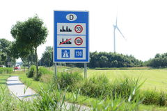 German Border. Photo with German border sign stock photography