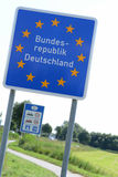 German Border. Photo with German border sign royalty free stock photography