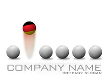 German Bouncing Ball Company Logo Stock Image