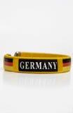 Germany bracelet. German bracelet with the flag of germany on white background Stock Photos
