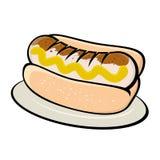 German bratwurst. Illustration of a german bratwurst Stock Photo