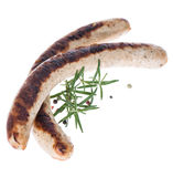 German Bratwurst (on white) Royalty Free Stock Photos