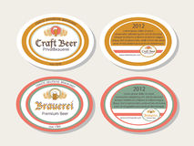 German brew house, beer logotypes. Stock Image