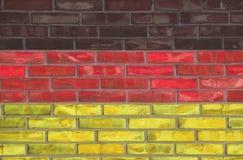 German brick wall. German flag color brick wall Royalty Free Stock Images