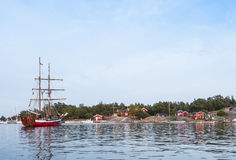 German brigantine Roedloga Stockholm archipelago Royalty Free Stock Photo