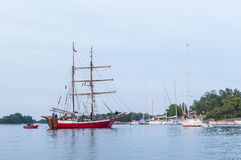 German brigantine Roedloga Stockholm archipelago Stock Photography