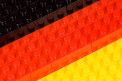 German building block flag Royalty Free Stock Photography