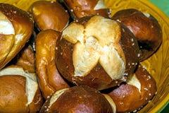 German bun with lye Stock Image
