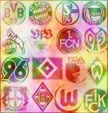 German Bundesliga. Badges of German Bundesliga Football Clubs Royalty Free Stock Photos