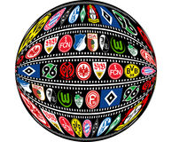 German Bundesliga Teams 2012/2013 Royalty Free Stock Image