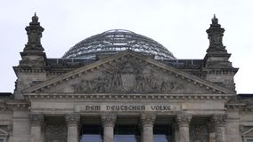 The German Bundestag building in Berlin, capital of Germany stock photography