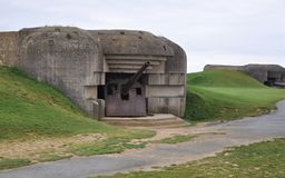 German Bunker at Normandy. German Bunker above the beach at Normandy, France Stock Photo