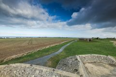 German bunkers and artillery in Normandy,France Royalty Free Stock Images