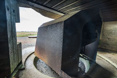 German bunkers and artillery in Normandy,France Stock Image