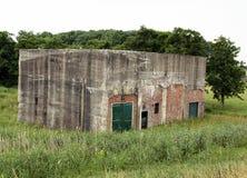 German bunkers. From World War II in the hamlet Fiemel. Netherlands Royalty Free Stock Photo