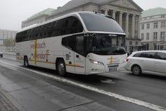 GERMAN BUS TOURISTS Stock Image