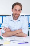 German businessman at office Royalty Free Stock Photo