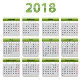 2018 German calendar Stock Image