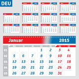German calendar 2015 Stock Images