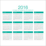 German Calendar Vector 2016. Vector Template of German Calendar 2016 year Stock Image