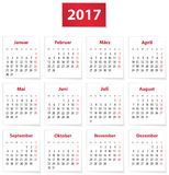 2017 German calendar Stock Photos