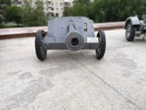 German anti-tank instrument of the Second World War is located in the Museum of the Stalingrad battle in Volgograd royalty free stock photos
