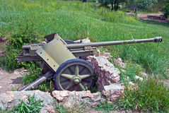 German cannon.Sevastopol,Crimea Stock Photos