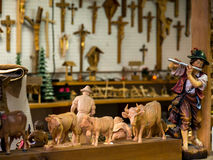 German Carpenters Shop. Making traditional wooden toys and statues, Oberammergau, Germany Royalty Free Stock Images