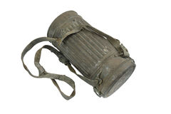 German case for gas mask. Royalty Free Stock Photography