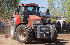German case puma cvx 150 tractor drives on track Stock Photography
