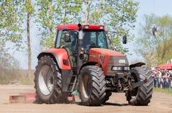 German case puma cvx 150 tractor drives on track Stock Photo