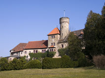 German castle. Hohenstein in bright sunlight royalty free stock photo