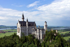 German castle in the alps, Neuschwanstein Stock Images