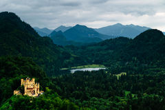 German castle with beautiful nature view Stock Photography