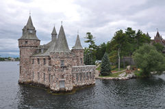 German Castle built on one of the Thousand Islands, Ontario. Canada Royalty Free Stock Photos