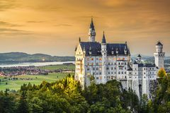 German Castle Stock Photo