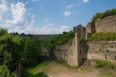 German castle ruin called Rheinfels Stock Photo