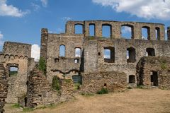 German castle ruin called Rheinfels Royalty Free Stock Photo