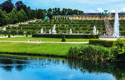 German castle Sanssouci, Potsdam, near Berlin Stock Photo