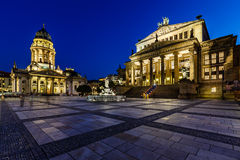 German Cathedral and Concert Hall on Gendarmenmarkt Square in Be Stock Photos