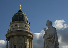 German Cathedral And Friedrich Schiller Royalty Free Stock Photos