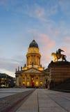 German Cathedral on Gendarmenmarkt in Berlin Royalty Free Stock Images