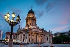 German Cathedral on Gendarmenmarkt Stock Photos