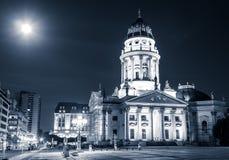 German cathedral, Gendarmenmarkt at night - Berlin Stock Image