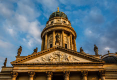 German Cathedral on Gendarmenmarkt Square in Berlin Stock Images