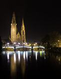 German cathedral under restauration. Saint Paul Cathedral by night Stock Image